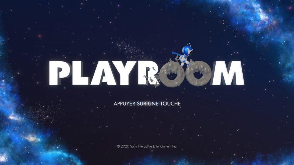 Ecran d'accueil Astro's Playroom