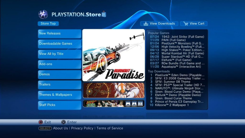 PlayStation Store, collection printemps 2008