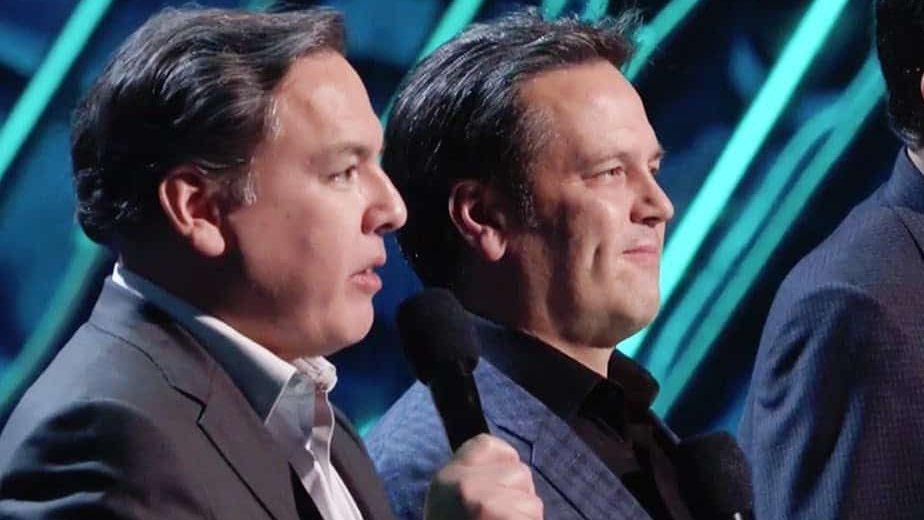 Shawn Layden et Phil Spencer aux Game Awards (2018)